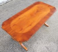 Antique Regency Style Yew Wood Coffee Table by Bradley - SOLD